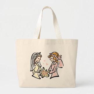 Boda lesbiano bolsas de mano