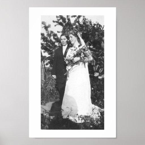 Boda lesbiano circa 1920 impresiones