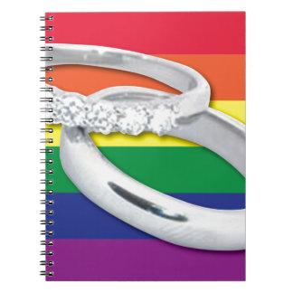 Boda lesbiano gay libreta espiral