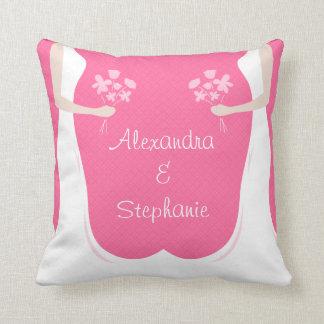 Boda lesbiano personalizado almohada