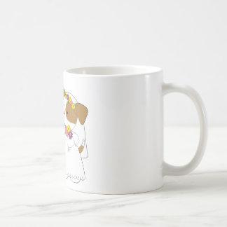 Boda linda del perrito taza