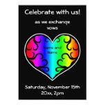 Boda lindo del corazón del arco iris del victorian invitación 12,7 x 17,8 cm