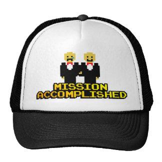 """Boda lograda """"misión"""" (gay, de 8 bits) gorra"""
