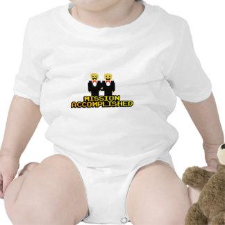 """Boda lograda """"misión"""" (gay, de 8 bits) traje de bebé"""