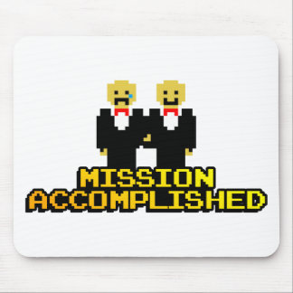 "Boda lograda ""misión"" (gay, de 8 bits) tapetes de raton"