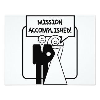 """Boda lograda """"misión"""" invitación 4.25"""" x 5.5"""""""
