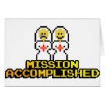 """Boda lograda """"misión"""" (lesbiana, de 8 bits) felicitaciones"""