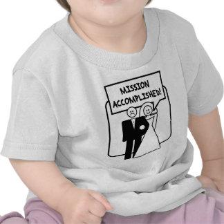 "Boda lograda ""misión"" camisetas"