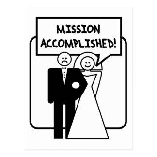 """Boda lograda """"misión"""" postales"""