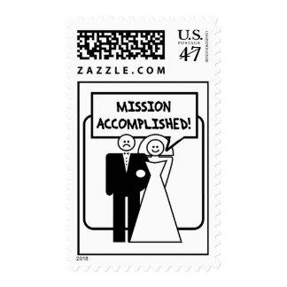 """Boda lograda """"misión"""" sellos"""