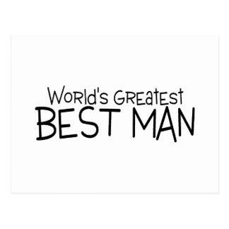 Boda más grande del hombre de los mundos el mejor tarjetas postales