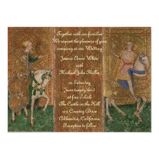 """Boda medieval de la fantasía del renacimiento del invitación 5.5"""" x 7.5"""""""