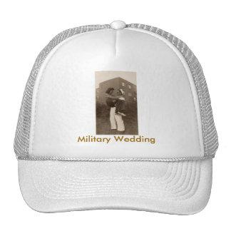 Boda militar gorras de camionero