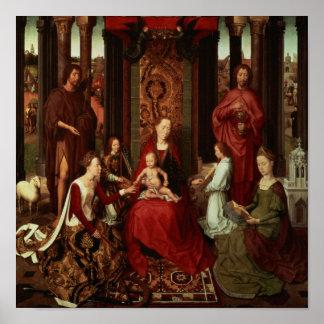 Boda mística de St Catherine y otros santos Posters
