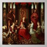 Boda mística de St. Catherine y otros santos Póster