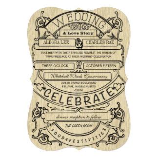 Boda moderno de la tipografía del anuncio del vint