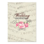 boda moderno de los musicnotes románticos del comunicado