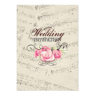boda moderno de los musicnotes románticos del vint comunicado