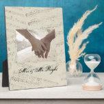 boda moderno de los musicnotes románticos del vint placas con foto