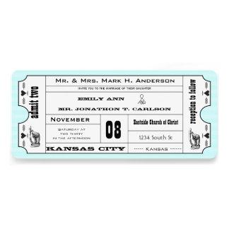 Boda moderno del boleto de la tipografía de la agu invitacion personalizada