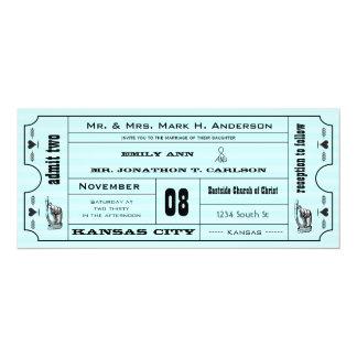 """Boda moderno del boleto de la tipografía del invitación 4"""" x 9.25"""""""