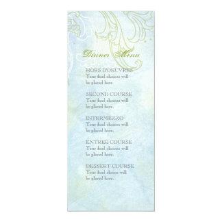 Boda moderno del remolino floral azul del girasol invitación