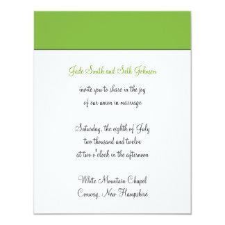 """boda moderno invitación 4.25"""" x 5.5"""""""