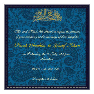 Boda musulmán del damasco azul anuncios personalizados