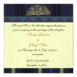"""Boda musulmán del damasco azul invitación 5.25"""" x 5.25"""""""