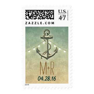 Boda náutico del ancla del vintage sellos