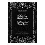 Boda negro del Victorian gótico y blanco fantasmag Invitacion Personalizada
