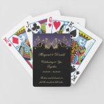 Boda negro púrpura de las mariposas 50.as del oro baraja cartas de poker