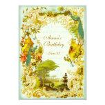 Boda o acontecimiento del jardín del pavo real de invitaciones personales