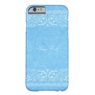 Boda occidental del país rústico azul de Paisley Funda Para iPhone 6 Barely There