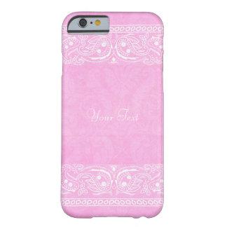 Boda occidental del país rústico rosado de Paisley Funda Para iPhone 6 Barely There