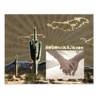 Boda occidental del vaquero del cactus rústico del fotografías