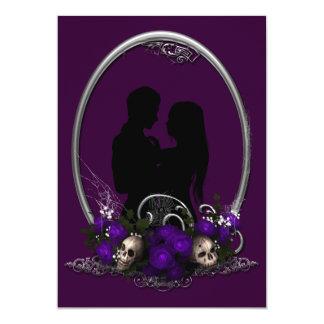 Boda oscuro del gótico del vampiro de la unión invitaciones personales