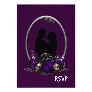 Boda oscuro del gótico del vampiro de la unión invitacion personal