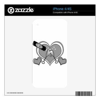 Boda personalizado, compromiso, regalos del skins para eliPhone 4S