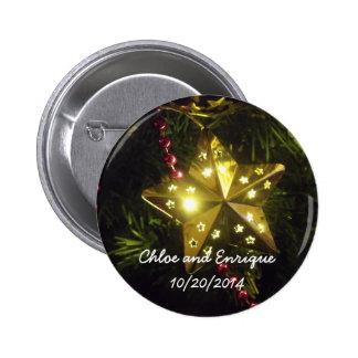 Boda personalizado estrella del día de fiesta del  pins