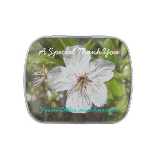 Boda personalizado flor blanco jarrones de dulces
