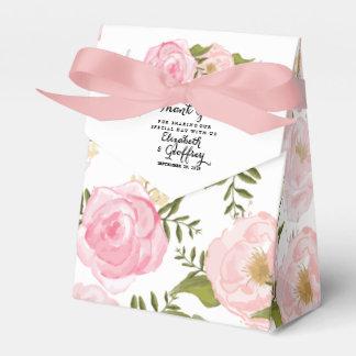 Boda personalizado floral del rosa moderno del cajas para regalos
