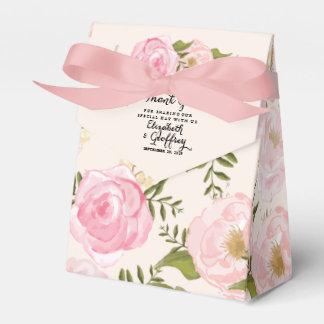 Boda personalizado floral del rosa moderno del cajas para regalos de boda