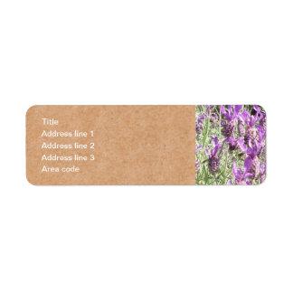 Boda personalizado flores de la lavanda francesa etiquetas de remite