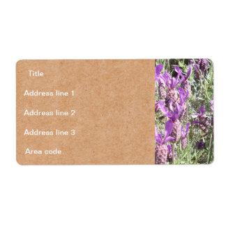 Boda personalizado flores de la lavanda francesa etiquetas de envío