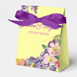 Boda personalizado flores del vintage paquetes de regalo