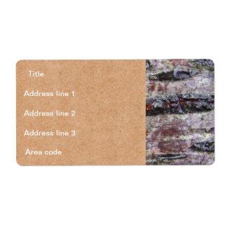 Boda personalizado foto de la corteza de árbol etiquetas de envío