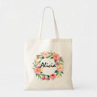 Boda personalizado guirnalda floral elegante de la bolsa tela barata