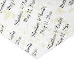 Boda personalizado papel de seda pequeño