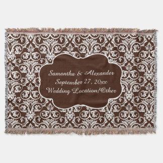 Boda/personalizado personalizados del damasco manta